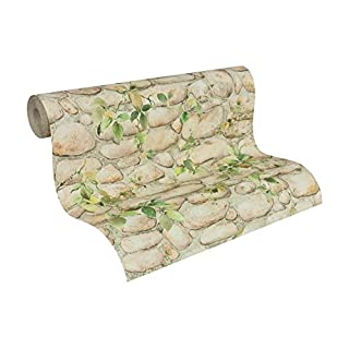 A.S. Creation 8344-16 Stone Effect with Flower Wallpaper