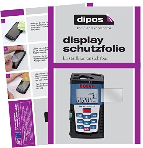 dipos I 3X Protector de Pantalla para Bosch DLE 70 Professional pelicula Protectora Claro