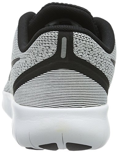 Nike Free RN (GS), Baskets Basses Mixte Enfant Blanc (White/Black)