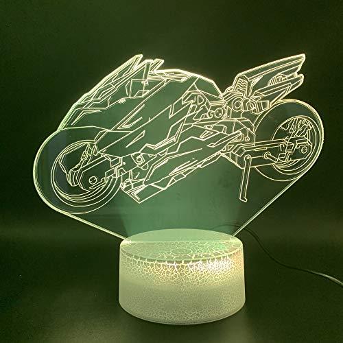 euge Motorrad 3D Led Nachtlicht Lampe Office Home Raumdekoration Atmosphäre Jungen Kinder Kind Geburtstagsgeschenk Nachtlicht ()