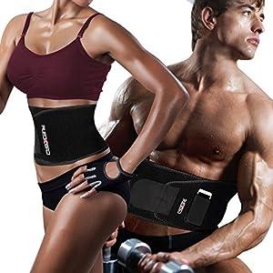REXSO Taille Trimmer, Premium Taille Trimmer für Herren Damen, Bauchtrainer für Ihre Genuss von Musik Beim Sport, inkl. Verstärken Den Gürtel,