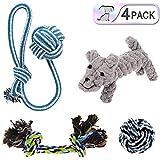 Hundespielzeug Set,Haustier welpenspielzeug Kauspielzeug Seil für kleine Welpen Hunde (4-Pack-1)