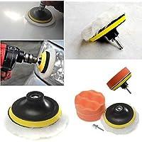 Kit de tampon de polissage FomCcu 10,2cm avec adaptateur pour perceuse. Outils accessoires polissage pour voitures.