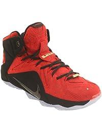 Nike LeBron XII EXT - Zapatillas para hombre Rojo University Red/University Red-Black