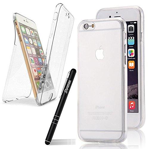 Slynmax 360°Grad Silikon Schutzhülle für iPhone SE/iPhone 5s 5 Transparent Hülle Rubber Bumper Case Handy Etui Rückseite Dual Layer TPU Stoßfest Shockproof Tasche Handyhülle