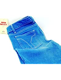 Mujer/niña Jeans Miss Sixty Low Ford Trousers/Tommy Pantalones Tamaño: 27/Royal Blue
