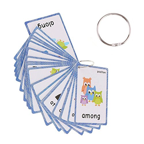 SANCENT 36 Orientation Preposition Expression Flash Cards, Preschool Educational Learning Toys&Learning Picture Word Flashcards(English Word Learning Cards&Pocket Size Cards for Children ),12x9cm