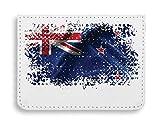 New Zealand Wellington Country Series Nationality Flag Nice to Étui pour Cartes de crédit de Poche