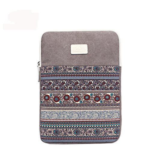 Bohème Stil Laptophülle Sleeve,15 Zoll bis 15,6 Zoll Laptop Hülle, 15-15,6 Zoll Laptop-Hülle Reißverschluss Tasche für ASUS ACER HP LENOVO DELL TOSHIBA SAMSUNG Chromebook Ultrabook Notebook