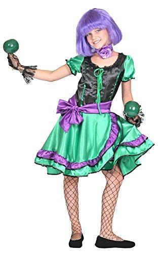 Funny Fashion Samba Kostüm Tina - Tanzkleid für Mädchen Gr. 140