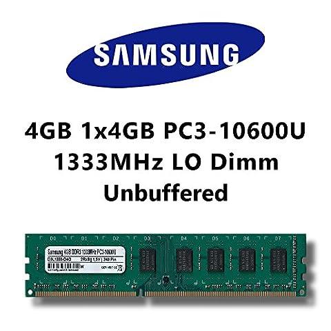 Samsung 4GB (1x 4Go) DDR31333MHz (PC310600u) Lo DIMM pour PC Ordinateur de bureau mémoire