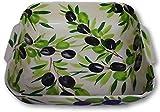 Charisma Geschenke Bassano italienische Keramik Ofen Auflaufform Olive beige