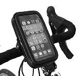 THEVERY® - Fahrradhalterung, Smartphonehalterung, Handyhalterung für den Lenker - wasserdicht - Aussen 95x165x25mm - Innen: 80x150x20mm
