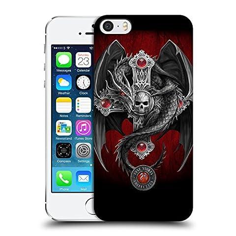 Officiel Anne Stokes Dragon Gothique Tribal Étui Coque D'Arrière Rigide Pour Apple iPhone 5 / 5s /