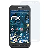 atFolix Schutzfolie kompatibel mit Samsung Galaxy S6 Active Panzerfolie, ultraklare & stoßdämpfende FX Folie (3X)
