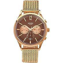 Henry London Unisex-Armbanduhr Harrow Chronograph Quarz Edelstahl HL41-CM-0056 (Zertifiziert und Generalüberholt)