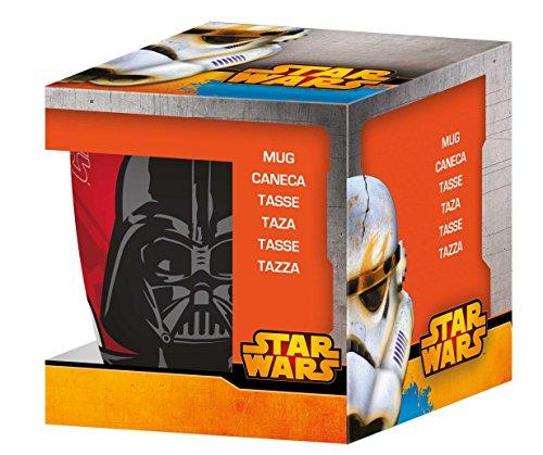 NOVASTYL 8011670 Star Wars Dark Vador Coffret Mug Porcelaine Orange 35 cl