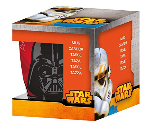 Générique NOVASTYL 8011670 Star Wars Dark Vador Coffret Mug Porcelaine Orange 35 cl