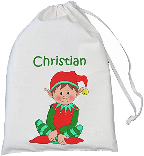 personalised-elf-small-25cm-x35cm-natural-cotton-drawstring-bag