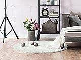 Komfort Shaggy Teppich Happy Wash rund - waschbar, trocknergeeignet und pflegeleicht | schadstoffgeprüft, antistatisch, robust, schmutzabweisend | für Wohnzimmer, Küche, Badezimmer, Bad, Farbe:Weiß, Größe:133 cm rund