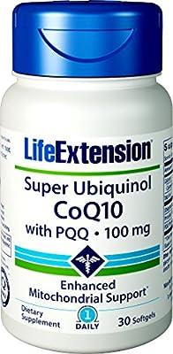Life Extension Super Ubiquinol CoQ10 with BioPQQ, Non-GMO, 100mg, 30 Softgels