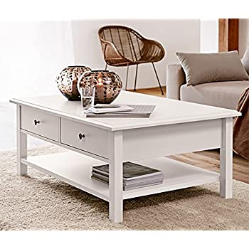 halifax landhausm bel couchtisch weiss shabby chic landhaus kaffeetisch k che haushalt. Black Bedroom Furniture Sets. Home Design Ideas