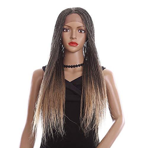 J.W. 28 Zoll Vordere Spitzen-Simulation Kopfhaut Wig, Handgemachte -