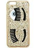 CHIARA FERRAGNI COVER IPHONE 6 GOLD GLITTER CFCIP6001