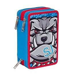 e052cfd43d ASTUCCIO scuola SEVEN – SJ ANIMALS – 3 scomparti – pennarelli matite gomma  ecc.
