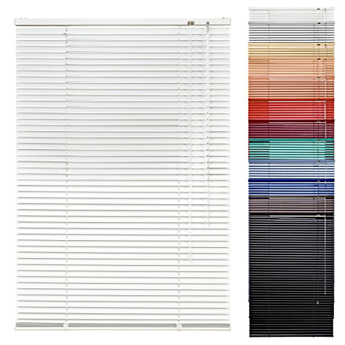 1PLUS Aluminium Fenster Jalousie mit 220 cm Länge in versch. Breiten & Farben