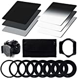 XCSOURCE Densità Neutra (ND) Filtro Set (ND2 ND4 ND8) + Graduale densita neutra ND Filter (G.ND2 G.ND4 G.ND8) + 9pcs anello adattatore (49mm 52mm 55mm 58mm 62mm 67mm 72mm 77mm 82mm) + Filtro Holder + Caso filtro Per Cokin P Series Canon Nikon Sony LF006