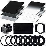 XCSOURCE® Densità Neutra (ND) Filtro Set (ND2 ND4 ND8) + Graduale densita neutra ND Filter (G.ND2 G.ND4 G.ND8) + 9pcs anello adattatore (49mm 52mm 55mm 58mm 62mm 67mm 72mm 77mm 82mm) + Filtro Holder + Caso filtro Per Cokin P Series Canon Nikon Sony LF006 - XCSOURCE - amazon.it