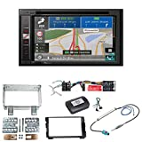 Pioneer AVIC-F980BT Navigation CarPlay Bluetooth USB Autoradio Touchscreen Einbauset für Kia Cee'd ED