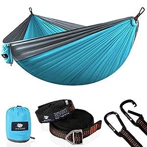 Anyoo Fallschirm Hängematte für Outdoor Garten tragbare Camping Schaukel Kapazität 300Kg Leichtgewicht mit Tasche für…