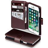 iPhone 7 Case, Terrapin [ECHT LEDER] Brieftasche Case Hülle mit Kartenfächer und Bargeld für iPhone 7 Hülle Braun