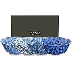 Tokyo Design Studio, Nippon Blue, 4 Schalen Set , 4-tlg., Ø 15.2 cm, Porzellan aus Japan