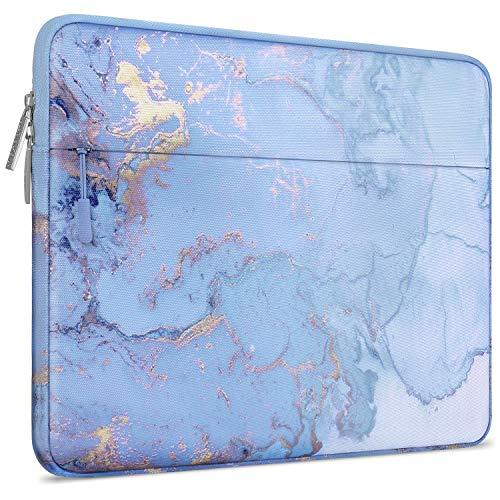 MOSISO Laptophülle Kompatibel mit 13-13,3 Zoll MacBook Pro, MacBook Air, Notebook Computer Canvas Marmor Muster Hülle Sleeve Tasche Schutzhülle Laptoptasche Notebooktasche, Wasser Blau