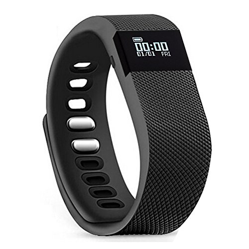 Activity Tracker,Amytech Fitness Activity Tracker Monitoraggio Attività Fisica Braccialetto Wellness Activity Tracker (Nero)