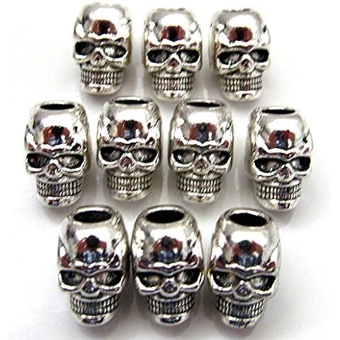 Paracord 550 - Charm per braccialetto o collana a forma di teschio, disponibili 3, 5, 10, 30 o 50