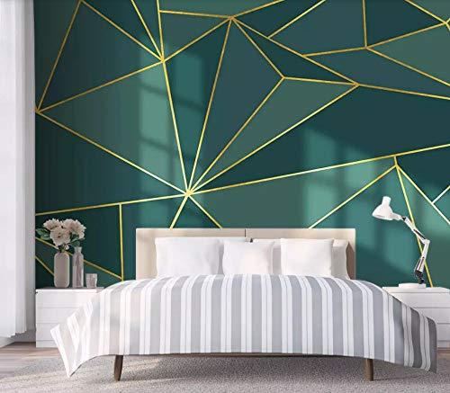 Fotomurali Carta Da Parati Linee D\'Oro Tridimensionali Geometriche Minimaliste Moderne Decorazione Murali Da Parete