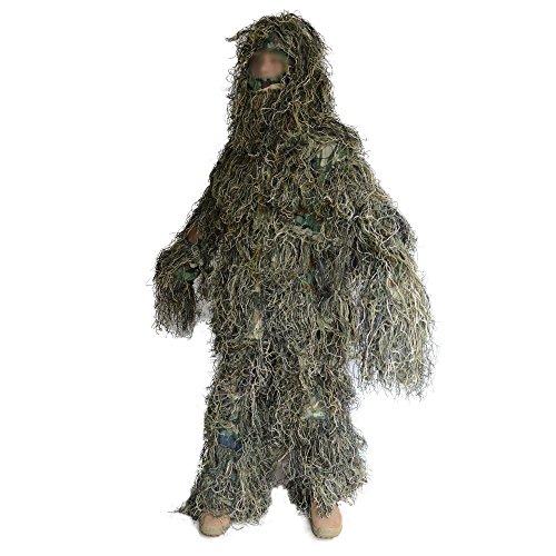 Erwachsene Camouflage Ghillie Suit Kit für Jagd, Kriegsspiel und Halloween, Color 1