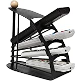 GLIVE (LABEL 4 Slot Metal Remote Control Organiser Stand Shelf Rack Holder Universal Tv/Ac/Cdplayer Remote Holder Stand