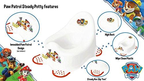 Nickelodeon Paw Patrol urinario para niño con pies antideslizantes.