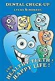 #9: MAHALAXMI Art Dental Dentist Poster Healthy Teeth Happy Life No. 2 Wall Poster Print on Art Paper 13x19Inches, Multicolor