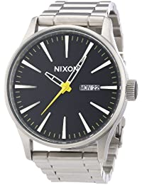 Nixon Herren-Armbanduhr XL Sentry SS Analog Quarz Edelstahl beschichtet A3561227-00