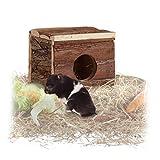 Relaxdays Nagerhaus aus Holz, Hamster, Rennmaus, ohne Boden, 1 Öffnung, naturbelassen, Kleintierhaus 14x15x13cm, braun Vergleich