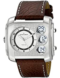 Jacques Lemans 1-1780B - Reloj de pulsera hombre, piel, color marrón