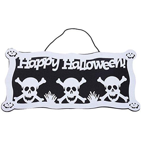 BESTOYARD Halloween hängende Zeichen Happy Halloween Skull Dekoration Spukhaus ()