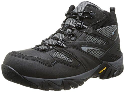 Hi-Tec - Alpha Trail Mid Wp, Scarpe da escursionismo Uomo Grigio (Grau (Coal/Charcoal/Grey 051))