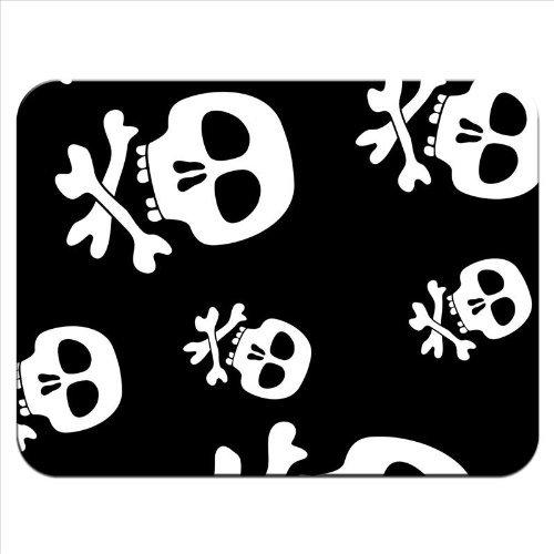 Snuggle Pirat/Jolly Roger/Totenkopf mit gekreuzten Knochen Hintergrund & Mauspad, hochwertig, dickes Gummimaterial, weiche, angenehme Oberfläche -